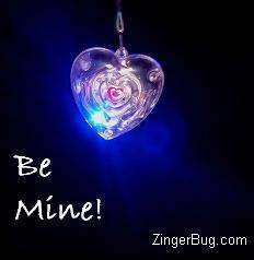 Click to get the codes for this image. Be Mine Heart Pendant, Valentines Day Free Image, Glitter Graphic, Greeting or Meme for Facebook, Twitter or any forum or blog.
