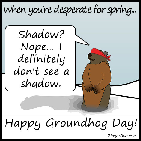 Click to get the codes for this image. Blindfolded Groundhog Cant See His Shadow, Groundhog Day Glitter Graphic, Comment, Meme, GIF or Greeting