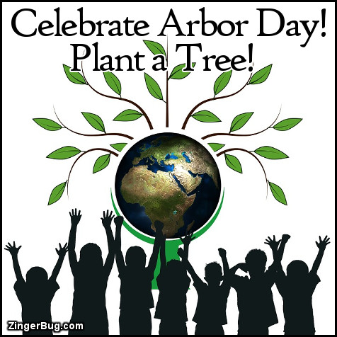 Click to get the codes for this image. Celebrate Arbor Day Plant A Tree, Arbor Day Glitter Graphic, Comment, Meme, GIF or Greeting