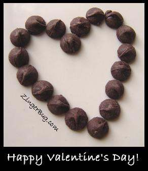 Click to get the codes for this image. Chocolate Heart Valentine, Valentines Day Free Image, Glitter Graphic, Greeting or Meme for Facebook, Twitter or any forum or blog.