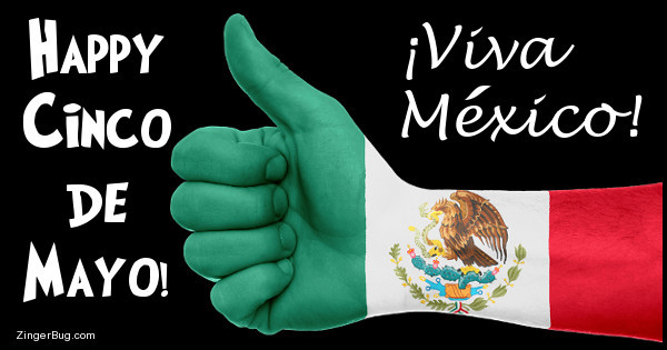 Click to get the codes for this image. Cinco De Mayo Thumbs Up, Cinco de Mayo Glitter Graphic, Comment, Meme, GIF or Greeting