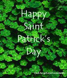 Click to get the codes for this image. Happy Saint Patrick's Day Clovers, Saint Patricks Day Free Image, Glitter Graphic, Greeting or Meme for Facebook, Twitter or any forum or blog.