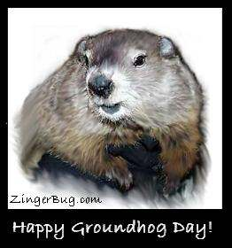Click to get the codes for this image. Happy Groundhog Day!