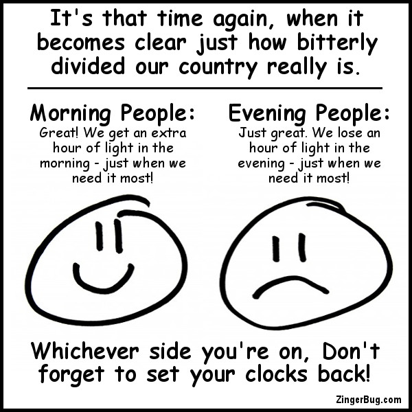 Click to get the codes for this image. Daylight Savings Time Divided Country, Daylight Savings Time Ends Free Image, Glitter Graphic, Greeting or Meme for Facebook, Twitter or any forum or blog.