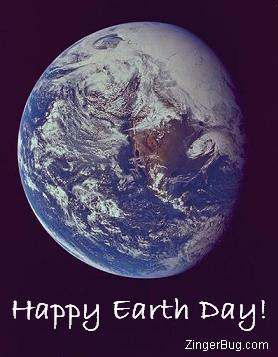 Click to get the codes for this image. NASA Photograph of the earth from space. The comment reads: Happy Earth Day!