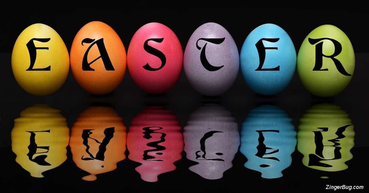Click to get the codes for this image. Easter Egg Reflections, Easter Free Image, Glitter Graphic, Greeting or Meme for Facebook, Twitter or any forum or blog.