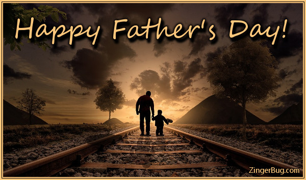 Click to get the codes for this image. Fathers Day Dad And Kid On Train Tracks, Fathers Day Glitter Graphic, Comment, Meme, GIF or Greeting