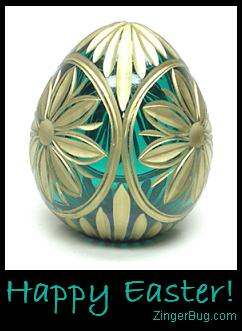 Click to get the codes for this image. Glass Easter Egg - Happy Easter!, Easter Free Image, Glitter Graphic, Greeting or Meme for Facebook, Twitter or any forum or blog.