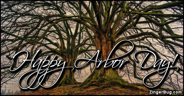 Click to get the codes for this image. Happy Arbor Day, Arbor Day Glitter Graphic, Comment, Meme, GIF or Greeting