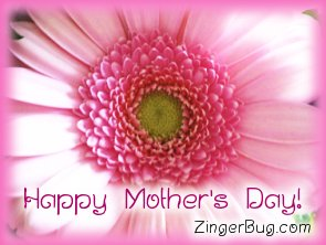 Click to get the codes for this image. Happy Mothers Day Pink Flower, Mothers Day Free Image, Glitter Graphic, Greeting or Meme for Facebook, Twitter or any forum or blog.