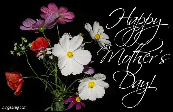 Click to get the codes for this image. Happy Mothers Day Simple Bouquet, Mothers Day Glitter Graphic, Comment, Meme, GIF or Greeting