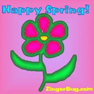 Click to get the codes for this image. Happy Spring Gradient Flower, Spring Free Image, Glitter Graphic, Greeting or Meme for Facebook, Twitter or any forum or blog.