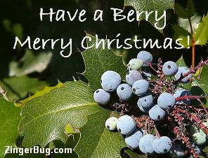 Click to get the codes for this image. Holly Berry Merry Christmas, Christmas Free Image, Glitter Graphic, Greeting or Meme for Facebook, Twitter or any forum or blog.
