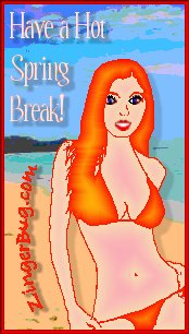 Click to get the codes for this image. Have a Hot Spring Break Poster Girl, Spring Break Free Image, Glitter Graphic, Greeting or Meme for Facebook, Twitter or any forum or blog.