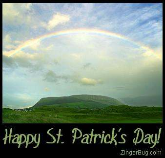 Click to get the codes for this image. Happy St. Patrick's Day! Ireland Rainbow Photo, Saint Patricks Day Free Image, Glitter Graphic, Greeting or Meme for Facebook, Twitter or any forum or blog.