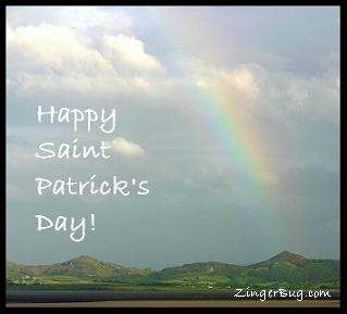Click to get the codes for this image. Ireland Rainbow Photo - Happy Saint Patrick's Day!, Saint Patricks Day Free Image, Glitter Graphic, Greeting or Meme for Facebook, Twitter or any forum or blog.