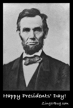 Click to get the codes for this image. Lincoln Photo Happy President's Day, Presidents Day Free Image, Glitter Graphic, Greeting or Meme for Facebook, Twitter or any forum or blog.