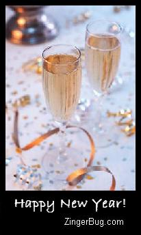 Click to get the codes for this image. Happy New Year Champaign Photo, New Years Day Free Image, Glitter Graphic, Greeting or Meme for Facebook, Twitter or any forum or blog.
