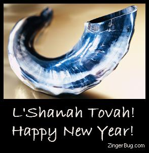 Click to get the codes for this image. This Rosh Hashanah photo shows a silver Ram's Horn with the comment: L'Shanah Tovah! Happy New Year!