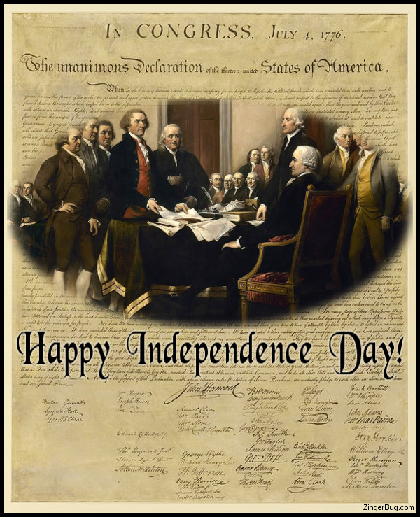 Click to get the codes for this image. Signing Declaration Of Independence, 4th of July Free Image, Glitter Graphic, Greeting or Meme for Facebook, Twitter or any forum or blog.