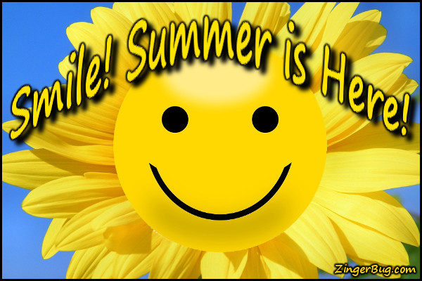 Click to get the codes for this image. Smile Summer Is Here, Summer Glitter Graphic, Comment, Meme, GIF or Greeting
