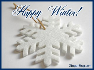 Click to get the codes for this image. Snowflake Ornament Photo with the comment: Happy Winter!, Winter Free Image, Glitter Graphic, Greeting or Meme for Facebook, Twitter or any forum or blog.