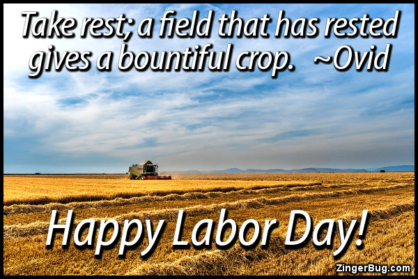 Click to get the codes for this image. Take Rest Ovid Labor Day Quote, Labor Day Free Image, Glitter Graphic, Greeting or Meme for Facebook, Twitter or any forum or blog.
