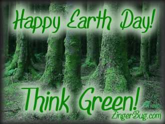 Click to get the codes for this image. Think Green - Happy Earth Day Photo, Earth Day Free Image, Glitter Graphic, Greeting or Meme for Facebook, Twitter or any forum or blog.