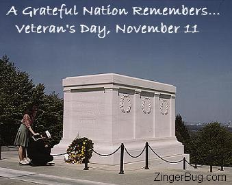 Click to get the codes for this image. Tomb of the unknown Soldier - Grateful Nation on Veterans Day, Veterans Day Free Image, Glitter Graphic, Greeting or Meme for Facebook, Twitter or any forum or blog.