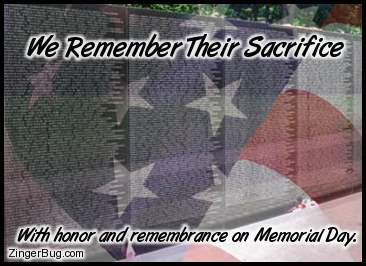 Click to get the codes for this image. Vietnam Wall Memorial Day, Memorial Day Free Image, Glitter Graphic, Greeting or Meme for Facebook, Twitter or any forum or blog.