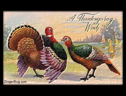 Click to get the codes for this image. Vintage Thanksgiving Turkeys, Thanksgiving Free Image, Glitter Graphic, Greeting or Meme for Facebook, Twitter or any forum or blog.